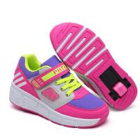 秋冬季童鞋暴走鞋 儿童带轮子运动鞋  时尚男童女童自动款成人滑轮溜冰鞋