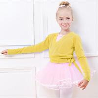 儿童舞蹈服装练功服 女秋冬季外套 长袖舞蹈毛衣 毛线衫披肩