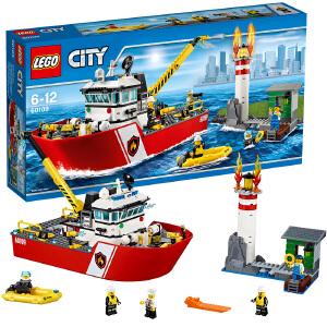 [当当自营]LEGO 乐高 城市系列 消防船 积木拼插儿童益智玩具 60109