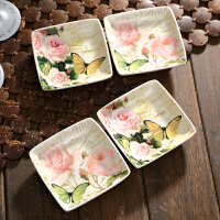 爱屋格林Evergreen 调料碟骨碟四方形味碟子陶瓷日式餐具调味碟