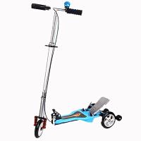 儿童双踏板动力滑板车 折叠三轮自助动力 滑板车蛙式车 坚韧耐磨防滑