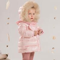 davebella戴维贝拉 女童新款秋冬轻羽绒服宝宝保暖羽绒服