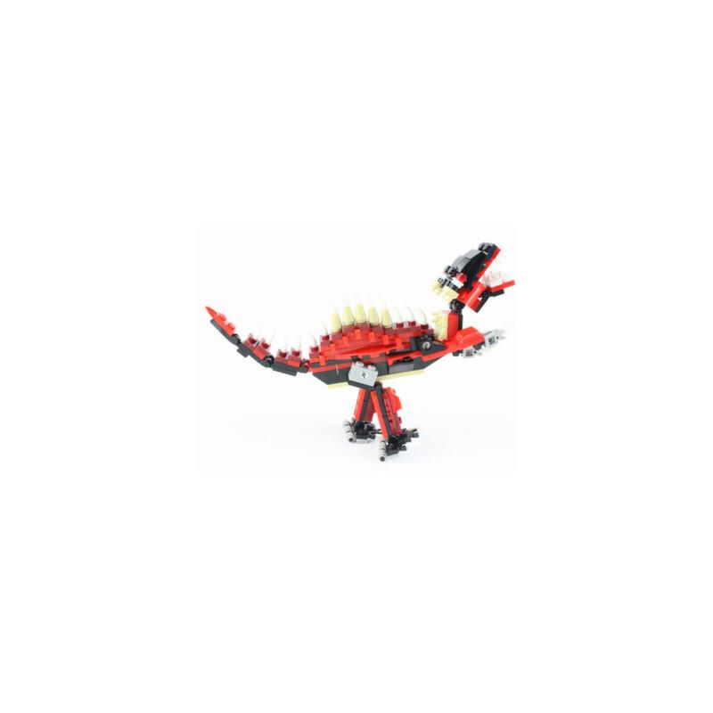【万格塑料/硬质积木】动物恐龙乐高式塑料拼插拼装