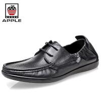 Apple苹果 男士正装皮鞋牛皮时尚系带商务日常休闲男鞋5212011