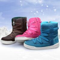 UOVO2017冬季新款童鞋男童鞋女童棉鞋儿童雪地靴保暖童靴男孩女孩时尚冬靴子 柏林