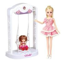 乐吉儿 永动秋千 芭比娃娃 套装礼盒 女孩公主玩具A007