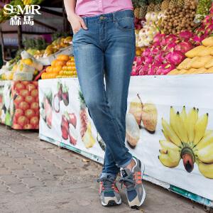 森马牛仔裤夏装女士修身小脚裤铅笔裤弹力长裤韩版女潮