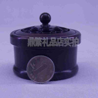 仿古纯铜手炉带盖子铜香炉香道香炉佛教用品铜雕刻摆件送父母 送朋友 送爱人礼物