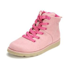 Shoebox/鞋柜 布面高帮加绒运动鞋女童鞋