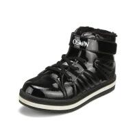 鞋柜SHOEBOX童鞋冬款男童黑色时髦个性高帮休闲鞋男女童