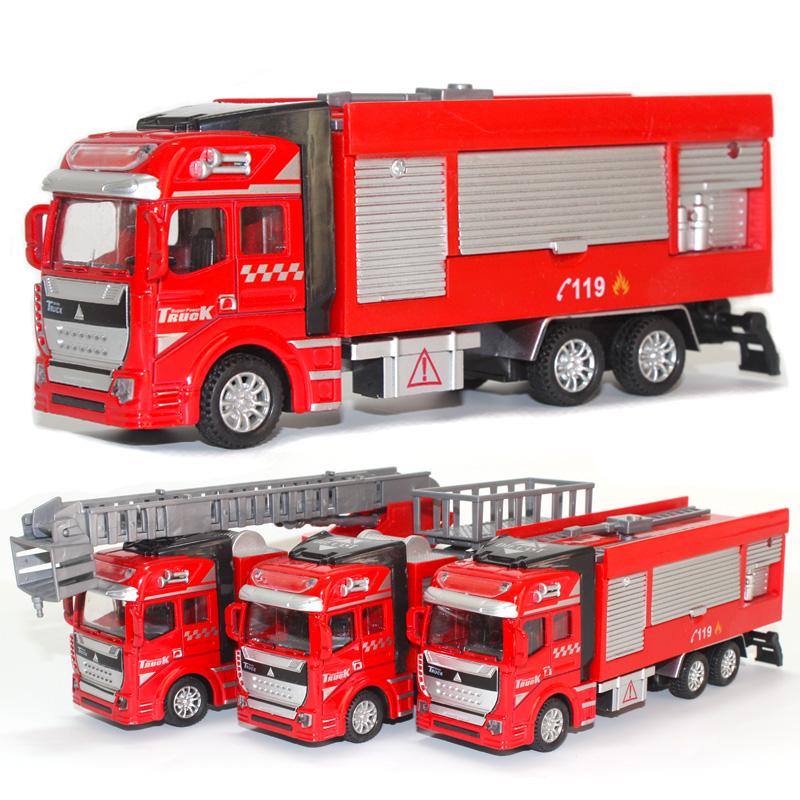 物有物语 玩具娱乐 创意家居合金回力水罐登高云梯消防车玩具大号火警