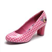 鞋柜SHOEBOX 大童女童鞋秋款单鞋女款小孩童鞋波点黑白色高跟