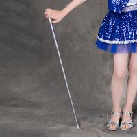 六一儿童爵士舞演出服配饰男童女童爵士舞蹈手杖幼儿爵士拐杖 白色 均码