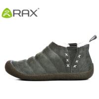 【满299减200】RAX秋冬款加绒雪地靴男女款徒步鞋防滑耐磨户外鞋休闲懒人鞋