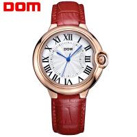 多姆(DOM)手表 女士 石英表潮流时尚皮带手表防水带钻女士手表