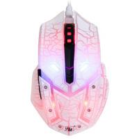 力胜 G29CW 游戏竞技鼠标 裂纹 七色呼吸灯变换 炫光 电竞鼠标