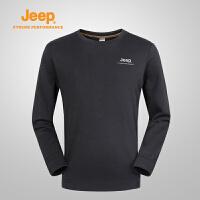 Jeep/吉普 秋冬男士户外舒适透气保暖透气运动卫衣J662011387