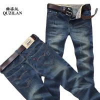 新款牛仔裤男修身男装直筒中腰男士长裤子休闲韩版潮