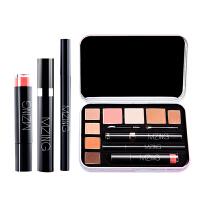 MZING 韩式智能彩妆套装  淡妆裸妆眼影唇釉眼线笔睫毛膏全套 韩式清新系列 铁盒装