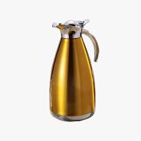 当当优品 双层不锈钢水壶 真空壶 保温壶 咖啡壶 金色 2000ML