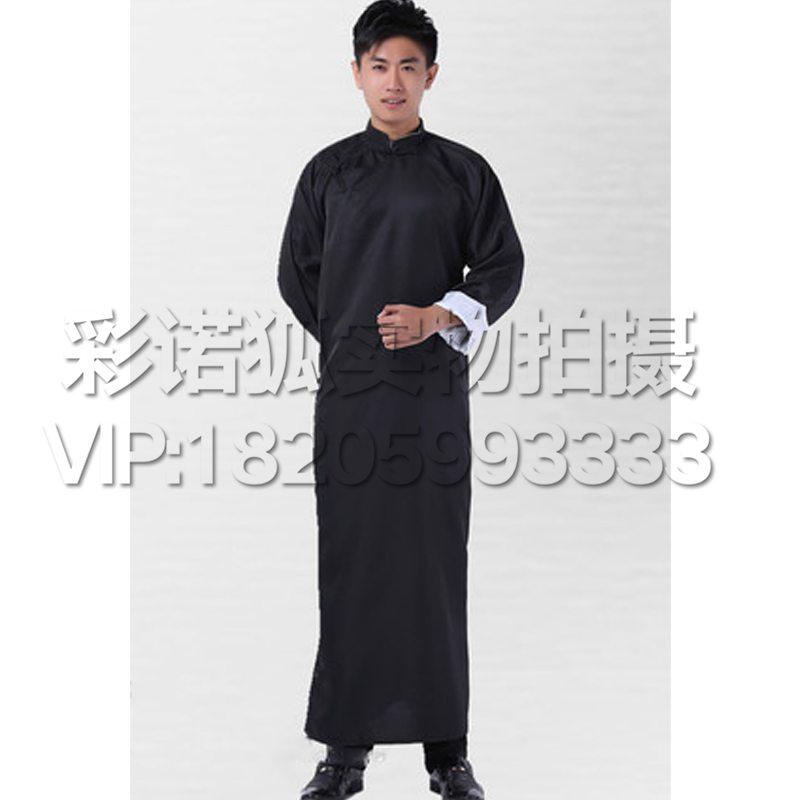 相声大褂中 式长袍 古装汉服男 民国长衫长袍马褂儿童相声演出服