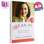 lean in 向前一步 英文原版  Lean in: Women, Work, and the Will to Lead 精装 励志必读 励志名著书籍 毛边版
