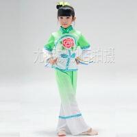 幼儿长袖古典舞表演服饰 元旦儿童秧歌服女童民族舞蹈演出服装