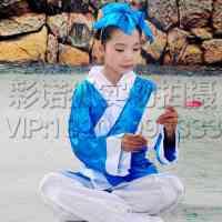 2016儿童书童国学服 装汉服弟子规表演服三字经演出服读书郎服装书生服