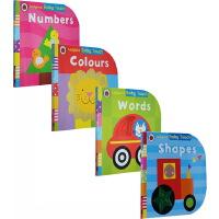 英文原版 Baby Touch Words Numbers Colours shapes 4册套装 低幼儿童启蒙纸板触摸书