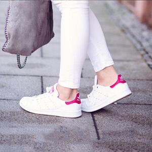 韩国直邮正品 Adidas/阿迪达斯男女板鞋 Stan Smith 粉尾 B32703