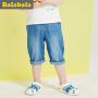 巴拉巴拉小童中裤男童宝宝七分裤童裤夏季童装儿童裤子男