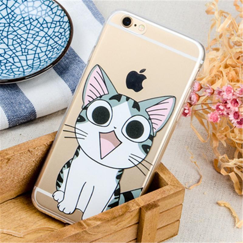 (买二送一可混搭)卡通猴子手机壳苹果6s/iphone6splus软壳5se超薄透明