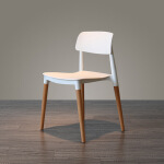 择木宜居 现代简约彩色餐椅 椅 塑料椅子 休闲椅 咖啡椅 餐椅
