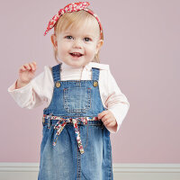 davebella戴维贝拉女童宝宝秋装新款背带牛仔连衣裙
