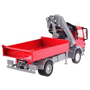 [当当自营]siku 德国仕高 1:50 奔驰Atego带起重机 合金车模玩具 U3534