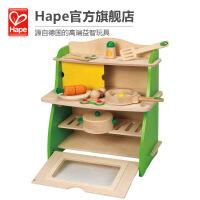 Hape 小厨房厨套装 多配件 儿童益智过家家玩具 E8009