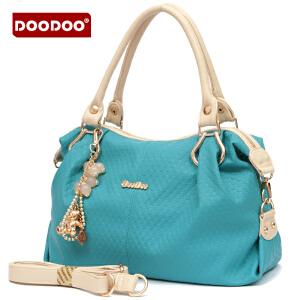 DOODOO 2017新款包包女包单肩包时尚休闲OL甜美女士手包手提斜挎大包包 D2193