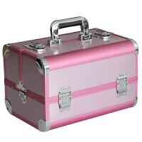 可爱粉色化妆箱双开大号 跟妆化妆箱