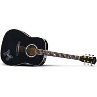Saysn思雅晨41寸民谣吉他黑色木吉他初学者入门吉它乐器演奏jita花蝴蝶套装