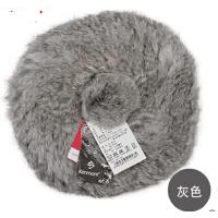 女士冬帽时尚韩版皮草帽子兔毛帽子手工贝雷帽