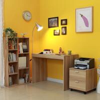 美达斯 儿童学习书桌柜 书桌书柜组合套装 书桌书架抽屉柜3件套 书房家具组合