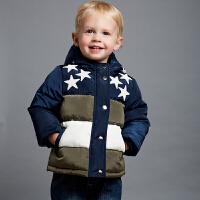 davebella戴维贝拉 男童秋装新款棉服 宝宝加厚棉衣
