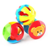【满200减100】米米智玩 婴儿儿童玩具0-1岁儿童益智五彩感官球铃铛球手抓球6-12个月宝宝玩具三件装