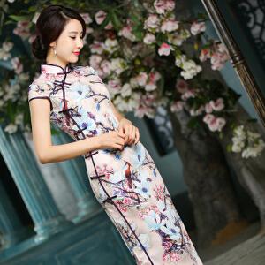 【当当年中庆】波柏龙 新款中袖旗袍中长款时尚改良修身旗袍