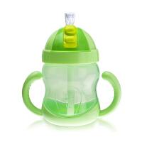 【当当自营】BABISIL贝儿欣 吸管防漏水杯240ml 草绿色BS4952 水杯/学饮杯/吸管杯/杯子