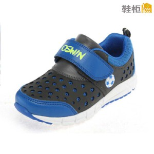 Shoebox鞋柜 时尚撞色透气孔魔术贴男童鞋运动鞋
