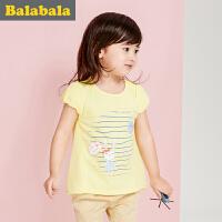 【6.26巴拉巴拉超级品牌日】巴拉巴拉女童短袖t恤小童宝宝上衣童装夏装儿童T恤女