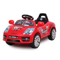 群兴儿童电动车童车四轮遥控可坐电动汽车跑车宝宝车玩具车 音乐卡通小跑车