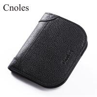 Cnoles蔻一 2017新款简约短款钱包女士学生薄款折叠零钱包迷你可爱小钱夹皮夹