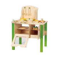 Hape 大厨房套装 三岁以上 儿童益智过家家玩具 节日* E8010